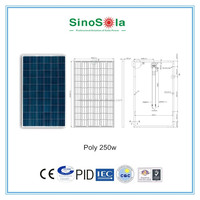 Portable 2000 Watt Solar Generator 250w poly solar panel for solar power system home system with TUV/PID/CEC/CQC/IEC/CE