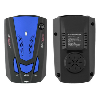 V7 16 band 360 degree car-styling voice alert anti laser police detector radar detector