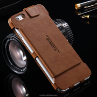 2016 hotsale black/brown/red/dark blue card slot/stand rcd case manufacturer floveme pu leather wallet case for iphone 6