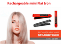 2017 New Bling Bling usb mini hair straightener electric ceramic hair fast straightener brush steam hair straighter