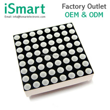 3MM 8 * 8 total negative red dot matrix. Model 1088AS. 3MM dot matrix MAX7219 dedicated dot matrix