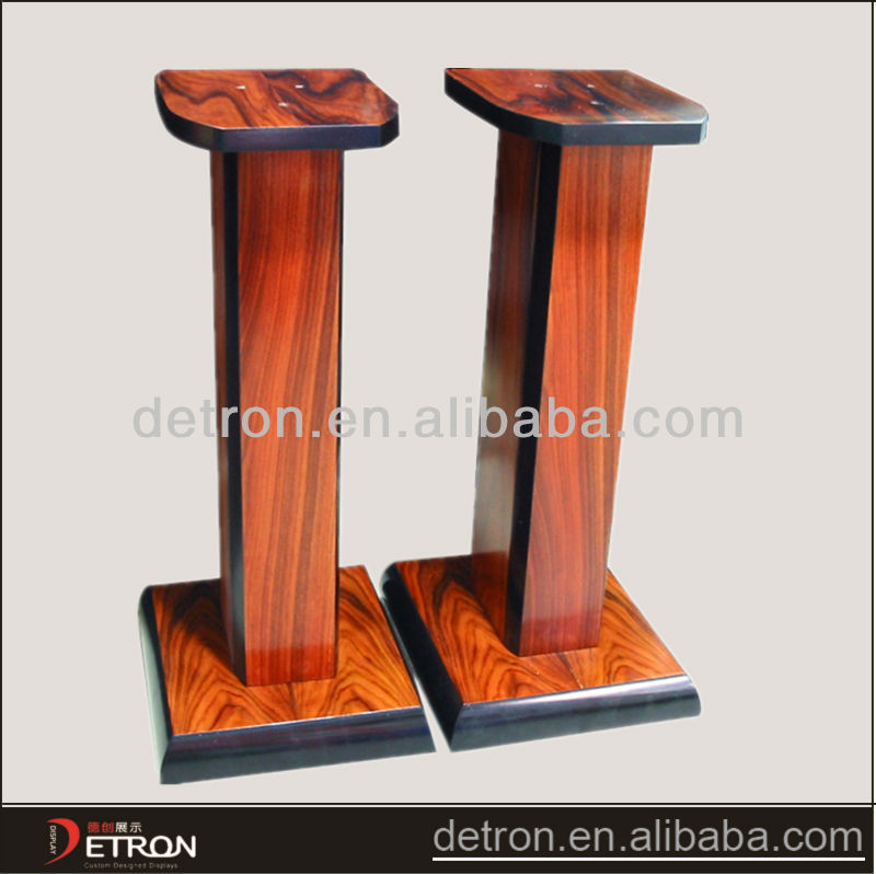 2014 new product fashinoalbe wood speaker stand display