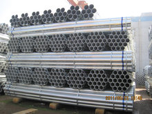 BS1387 scaffold galvanize steel pipe gi pipe 6 meter
