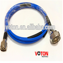 manufactur Voton 7/16 din connector metal plug to N plug RG402 jumper coaxial custom cable assembly