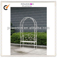 Ornamental garden arch and bench