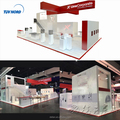 Detian offer custom trade show booth double deck booth two story display stand