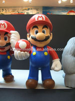 OEM Non-phthalate hollow vinyl Mario cartoon character figure toy