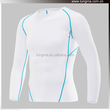Long Short Sleeve Wholesale Blank Custom Compression Shirts