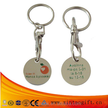 Promotional Zinc alloy Material Metal Trolley Coin with Logo