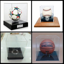 Chinese factory acrylic football baseball basketball display stand case