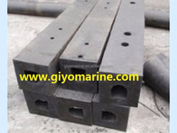 strong elasticity and mechanical absorbent square type rubber fender for sale