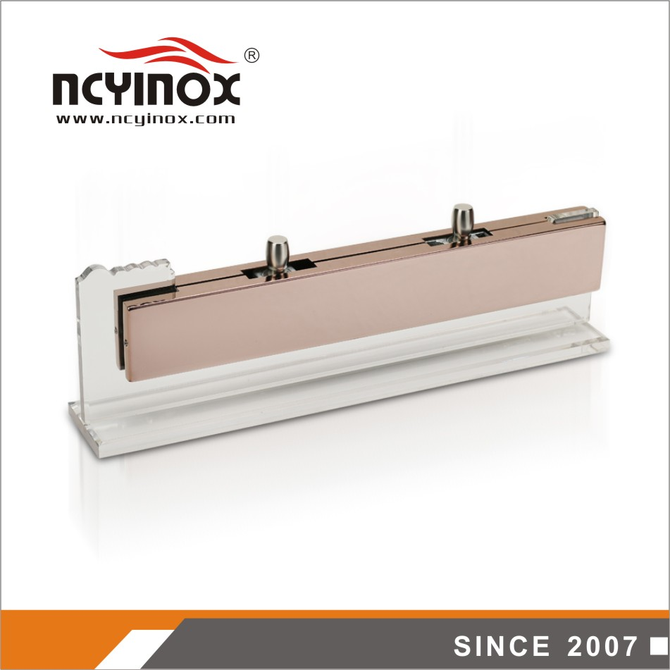 Lower price good quality long shape center box glass door patch fitting