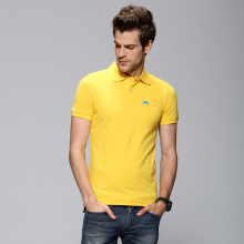 Camisa de Polo de Color amarillo Al Por Mayor de Logotipo Personalizado Diseño de Diferentes Colores