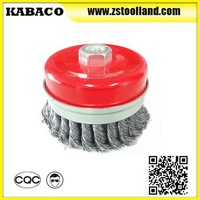 cup type knitted wire brush