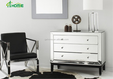 Latest Modern Clear Fancy Mirrored Glass 3 drawers Sideboard /Chest