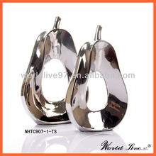 Promotion Silver Ceramic Pear Home Decoration Guangzhou Home Decor