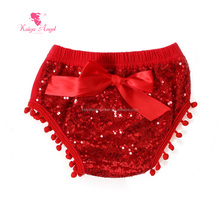 red sequin girl baby underwear diaper covers newborn baby clothes