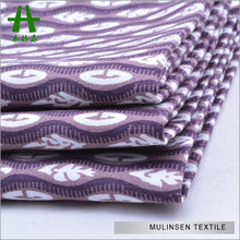 Mulinsen Textile Hot Sale Cotton Sateen Purple And White Indian Block Print Fabric