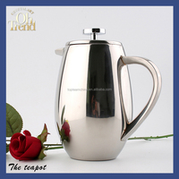 High custom iron cast tea pot brushed stainless steel teapot with infuser/ commercial tea pot/ teapot planter
