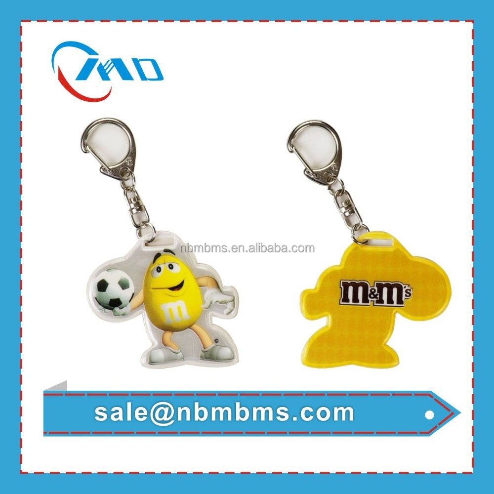 2015 Best Promotion Give Away Gifts for Children With Offset Printing Reflex Keychain