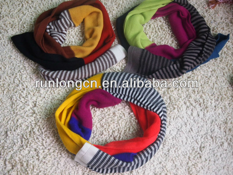 100% acrylic hot sale knitted neck warmer