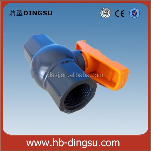 plastic pvc heavy water tank lever operated manual full port DN15 ball valve