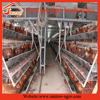Low carbon steel heavy duty chicken layers cage breeding battery cages
