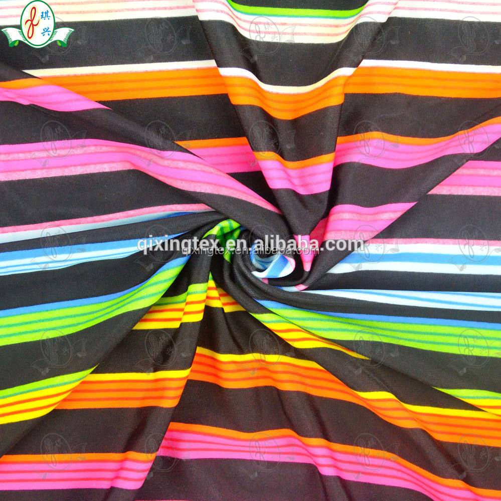 90 polyester 10 spandex fabric/polyester spandex blend fabric with low MOQ