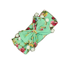 Wholesale fashion boutique knitting baby girls bow headband