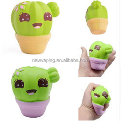 Random color Jumbo Cute Squishy Toy Cactus Simulation Scented Slow Rising Squeeze Toy Kid Squishies Novelty Toys Girls kids gift