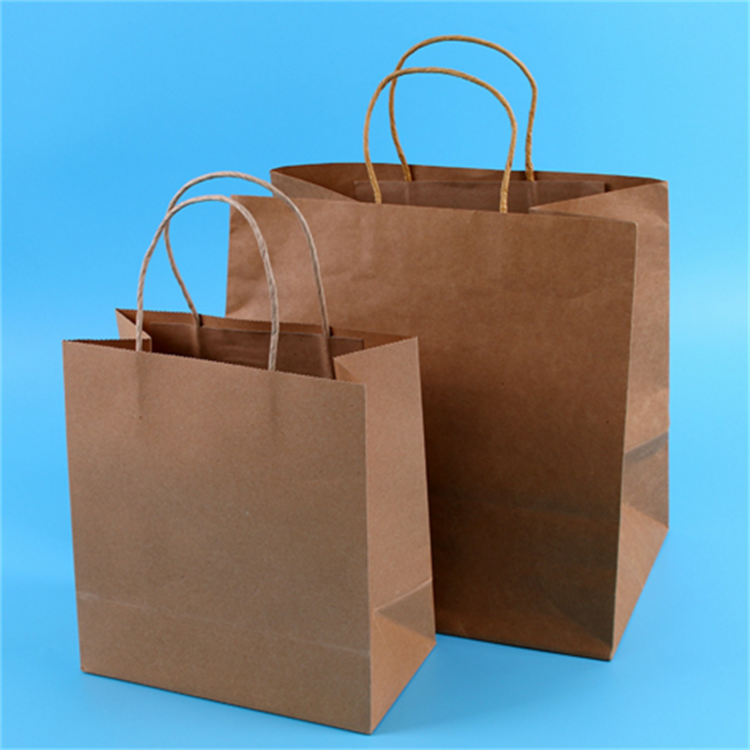 2016 Cheap customized brown kraft paper lunch bags