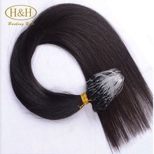 Remy hair high quality soft brazilian micro ring loop hair extensions virgin remy hair for cheap