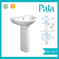 China popular Pedestal Sink toilet basin combination