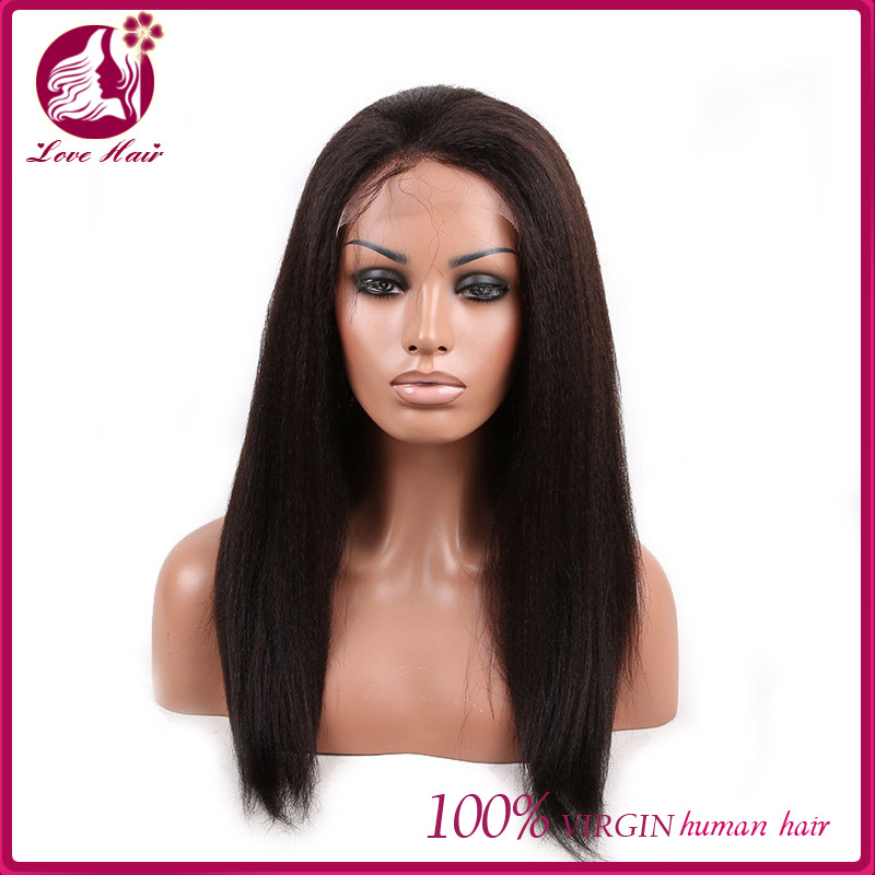 7A Kinky Straight italian yaki Full Lace Human Hair Wigs For Black Women Unprocessed European Full Lace Wig Glueless Wig