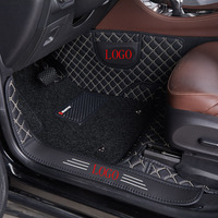 5D Double layer leather car floor mat car waterproof car foot mat carpet for BMW Audi Toyota ford