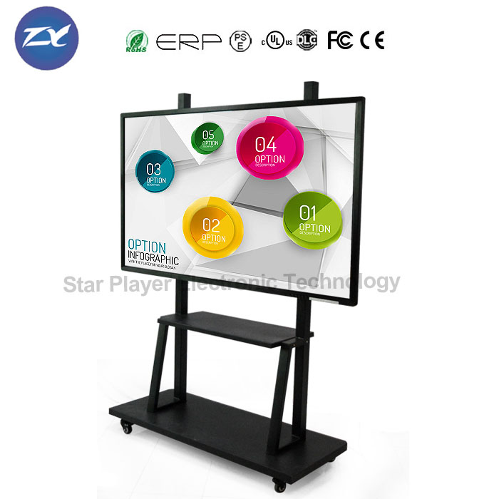 Star Player 55''65''75''80''84'' movable no projector interactive whiteboard