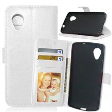 For LG Nexue 5 Novel Leather Phone Case with Photo Frame Card Holder Stand fundas Mobile Phone Cover cases