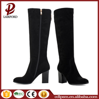 2016 free sample wholesale cheaper high heel pu suede shoes snow woman long winter boots