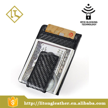 2016 Popular Carbon Fiber Wallet Glossy Money Clip Credit Card Business Card Holder