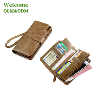 KID custom gift long passport organizer leather travel wallet