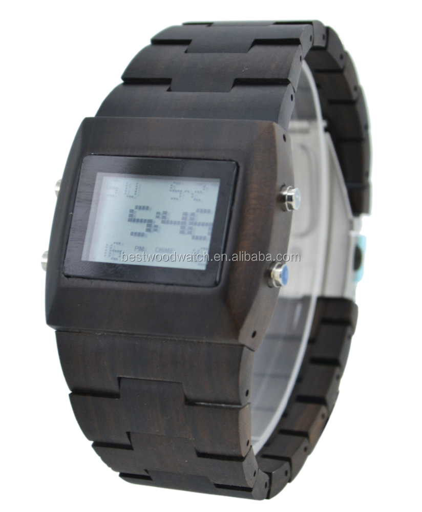 Chinese supplier square quartz Japanese movement digital watch