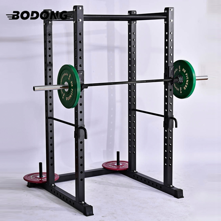 Heavy duty adjustable fitness squat rack machine equipment
