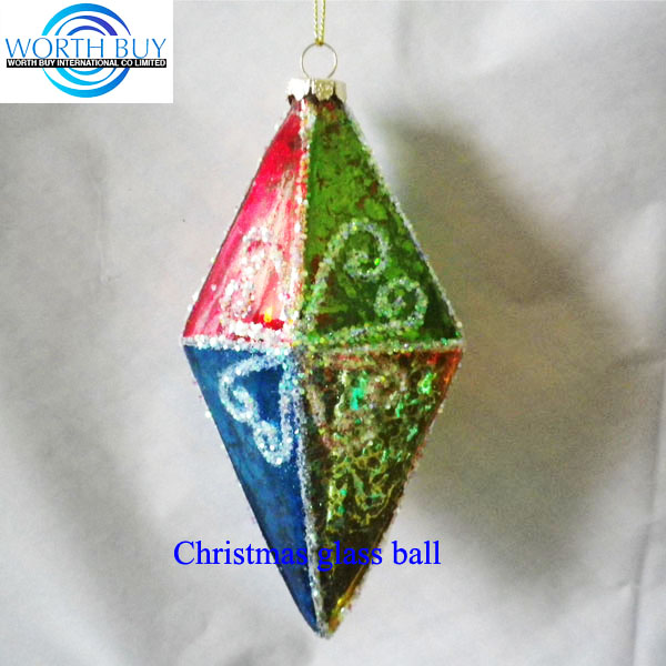 Hot sale in German prismatic paint glass christmas balls w/ raised pattern decorated factory