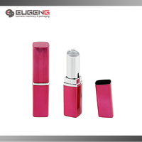 wholesale cosmetic magnetic pink empty lipstick tube for lady