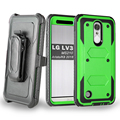 For LG Aristo LV3 MS210 Rugged Armor Case Holster KickStand Belt CLip Cover