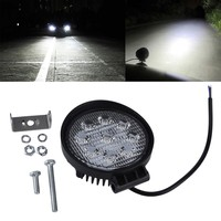 27W LED Work Light 12V 24V IP67 Spotlight Fog Light Off Road ATV Tractor Train Bus Boat Floodlight 4x4 ATV UTV Work Light
