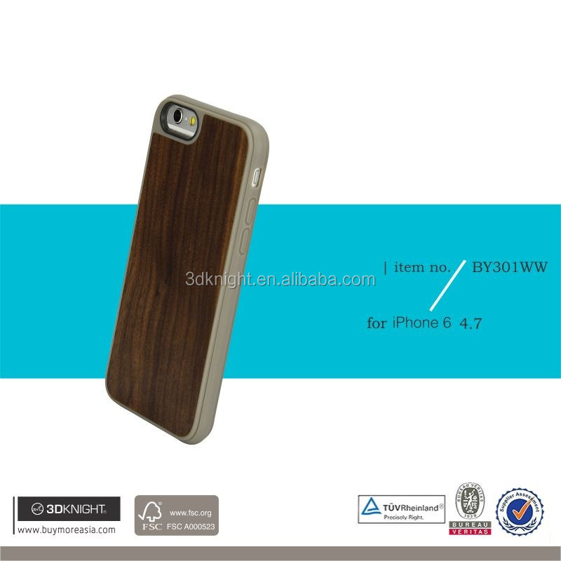 For Samsung Apple Wood TPU case, mobile phone case for iPhone 6s, TPU cover case for i6