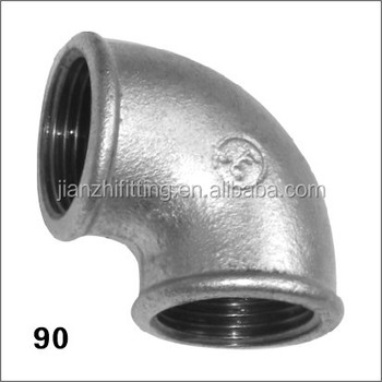 Galvanized iron pipe fittings Elbow