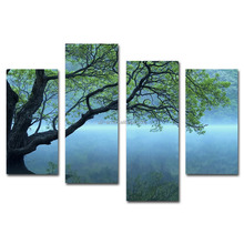 Custom tree picture stretched canvas prints