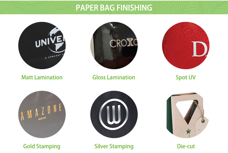 Luxury christmas gross retail paper shopping gift bag